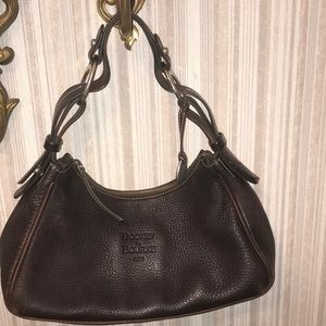 Dooney & Bourke 1975 Pebbled Brown Leather HOBO
